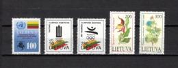 Lituania  1992  .-   Y&T  Nº    426-427-429-430/431 - Lituania