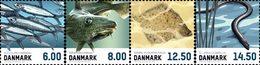 DANEMARK Poissons 4v Adh.Perf 13/13,25 2013 Neuf ** MNH - Danimarca