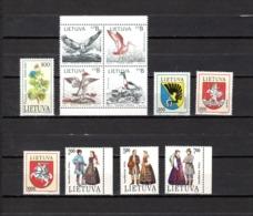 Lituania  1992  .-   Y&T  Nº    431-432/435-436/438-439/441 - Lituania