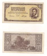 Egymillio Milpengö - Budpest 1946 - Hungary
