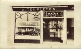 RPPC SHOPFRONT  W TEMPLETON ESTABLISHED 1913 - Inglaterra