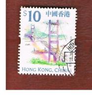 HONG KONG - SG 986  -  1999  TOURISM: TSING MA BRIDGE (26X31)  - USED ° - 1997-... Région Administrative Chinoise
