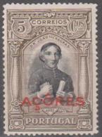 AÇORES-1927, Independência De Portugal-2ª Emissão. Com Sob.«AÇÔRES»  5 C. * MNG Afinsa Nº 257 - Azores