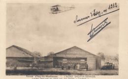 """L. DEMAZEL  - Texte Et Signature AUTOGRAPHE Sur CP """" Issy Les Moulineaux L'Ecole SAGITTA - DEMAZEL """" Pionnier - Flieger"""