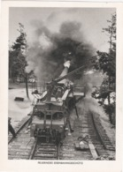 Propaganda  Karte, Feuerndes Eisenbahngeschütz - War 1939-45