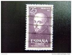 ESPAÑA SPAIN AÑO YEAR 1955 EDIFIL Nº 1166 - USADO (o) USED (o) - IV CENTENARIO MUERTE DE SAN IGNACIO DE LOYOLA - 25 Cts - 1951-60 Usados