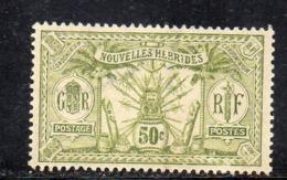 APR2832 - NUOVE NOUVELLES HEBRIDES 1910,  Yvert N. 44  ***  MNH    (2380A) Punto Colore Retro - Leggenda Francese