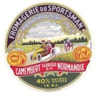 ETIQUETTE De FROMAGE..CAMEMBERT De NORMANDIE..Fromagerie Du Sportsman - Fromage