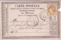 Carte Postale Précurseur  Type 16 Oblitérée - Entiers Postaux