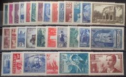 R1615/1176 - 1938 ➤➤➤ ANNEE COMPLETE - N°377 à 418 NEUFS** - Cote : 702,00 € - Frankreich