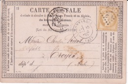 Carte Postale Précurseur  Type 18 Oblitérée - Cartoline Precursori