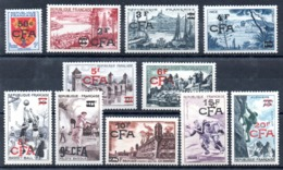 REUNION - YT N° 320 à 330 - Neufs ** - MNH - Cote: 46,00 € - Reunion Island (1852-1975)