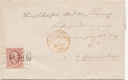 Nederland - 1864 - 10 Cent Willem III, 1e Emissie Op Complete Vouwbrief Van Maastricht Naar Den Haag - 1852-1890 (Wilhelm III.)