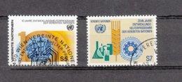 NATIONS  UNIES  VIENNE   1981    N° 21-22  OBLITERES   CATALOGUE YVERT - Centre International De Vienne