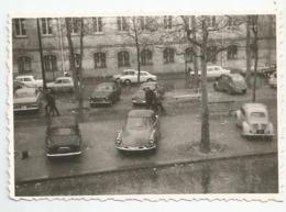 Photographie Paris 18e 04/1965 Neige Parking Ds 2 Cv..bvd Rochechouart  Photo 6x12 Cm - Cars