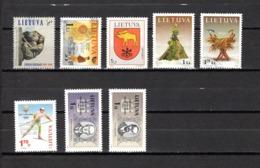 Lituania   2001-2002  .-  Y&T  Nº  671-672-673-676/677-678-679/680 - Lituania