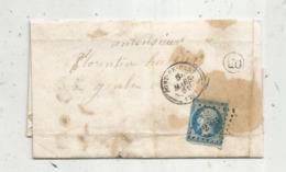 Lettre,1861 ,  PONT DE PANY ,Côte D'Or , Paris à Belfort - 1849-1876: Klassieke Periode