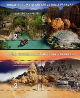 Turkey - 2019 - Natural Protected Areas And National Parks - Adiyaman And Antalya - Set Of 2 Mint Souvenir Sheets - 1921-... Republic