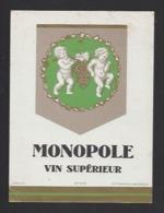 Etiquette De Vin De Table - Monopole  - Thème Porteurs Grappe De Raisin - Etiquettes