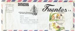 Enveloppe De Discos Fuentes, La Grabacion Colombiana De Fama Internacional Vers La Belgique (25/10/1967) - Altri Oggetti