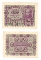 Zwanzig Kronen - Wien, 2. Jänner 1922 - Austria
