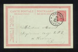 """""""ENTIER CARTE POSTALE COMMERCIALE POUR EXPEDITION DE LESSINES (BELGIQUE) VERS GUILLAUCOURT (FRANCE)""""CACHET DU 24/07/1923 - Postcards [1909-34]"""