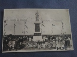 80 CHAUSSOY-EPAGNY-HAINNEVILLE CARTE PHOTO INAUGURATION DU MONUMENTS AUX MORTS LE 6 MAI 1923. Rare - Frankreich