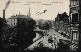 Chemnitz Stollberger Zwickauer Strasse Falkehaus Nicolaibrücke TRAM - Chemnitz