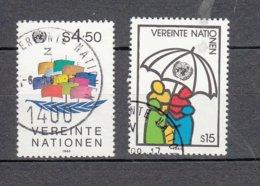 NATIONS  UNIES  VIENNE   1985    N° 49-50    OBLITERES   CATALOGUE YVERT - Centre International De Vienne