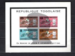 TOGO BLOC N° ?  NEUF SANS CHARNIERE COTE  ? €   MORT DU PRESIDENT KENNEDY  RARE - Togo (1960-...)