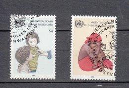 NATIONS  UNIES  VIENNE   1985    N° 53-54    OBLITERES   CATALOGUE YVERT - Centre International De Vienne