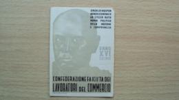ISTRIA CROAZIA FASCISMO TESSERA CONFEDERAZIONE FASCISTA LAVORATORI COMMERCIO FIUME 1938 ANNO XVI MUSSOLINI - Old Paper