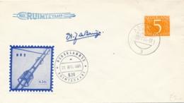 Nederland - 1964 - Raketbrief Lancering Van Raket NRS 636 - Poste Aérienne