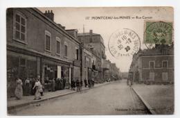 - CPA MONTCEAU-LES-MINES (71) - Rue Carnot 1920 (belle Animation) - Photo Coqueugniot 127 - - Montceau Les Mines
