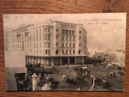 CPA Casablanca- Place De France MAROC, Imp E.Le Deloy Paris - Casablanca