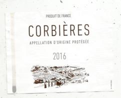 étiquette , Vin , CORBIERES , 2016 - Languedoc-Roussillon