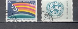 NATIONS  UNIES  VIENNE   1986      N° 62-63   OBLIERES  CATALOGUE YVERT - Centre International De Vienne