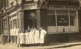 RPPC SHOPFRONT VC DINING ROOMS UK ENGLAND TEAS - Publicidad