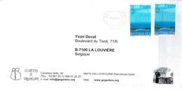 Lettre Des Gegantes (géants) De Vallgorguina (Barcelona) Vers La Belgique Du 01/02/2005) - 2001-10 Storia Postale