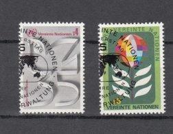 NATIONS  UNIES  VIENNE   1980    N° 12-13  OBLITERES   CATALOGUE YVERT - Centre International De Vienne
