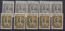Europa Cept 1966 Luxemburg 2v (5x)  ** Mnh (44813) - 1966