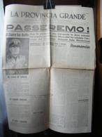 (G1) LA PROVINCIA GRANDE SENTINELLA D' ITALIA FEDERAZIONE FASCI COMBATTIMENTO CUNEO 31 OTTOBRE 1941 ANNO 1 N°18 - Riviste & Giornali