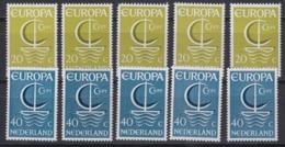 Europa Cept 1966 Netherlands 2v (5x)  ** Mnh (44813A) - Europa-CEPT