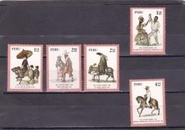 Peru Nº 591 Al 595 - Peru