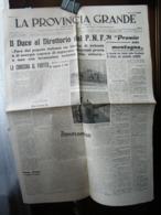 (G3) LA PROVINCIA GRANDE SENTINELLA D' ITALIA FEDERAZIONE FASCI COMBATTIMENTO CUNEO 9 GENNAIO 1942 ANNO 2 N°2 - Riviste & Giornali