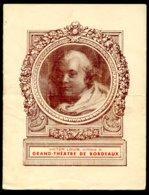 Grand Theatre De Bordeaux, Saison 1943-44, Madame Butterfly, Puccini - Musik & Instrumente