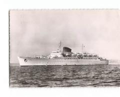 Bateau Paquebot Antilles Compagnie Generale Transatlantique CPSM GF Cachet Maroc + Timbre - Steamers