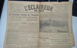 Rare Journal L'éclaireur DeNice 13 Novembre 1918 - 1939-45