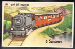 SANCERRE 18 - Carte à Système / 10 Vues - Train - A164 - Sancerre