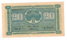 Finland 20 Mk. 1945 , AUNC. - Finlandia